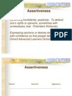 A for Assertiveness