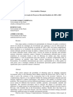 Sobre-reação de preços mercado brasileiro de 1995 a 2003