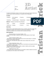 Tristan Patrick - Resume 2011 August