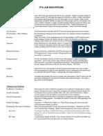 PTA Job Descriptions