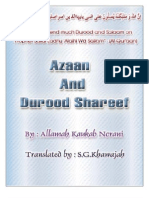 ADHAN AND DUROOD SHAREEF