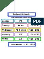 2B Special Schedule 2011-12