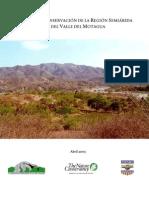 Plan de conservación de la región semirárida del Valle del Motagua