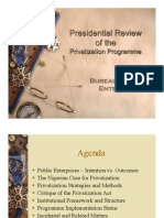 Presidential Review of the Privatization Programme - Bureau of Public Enterprises of Nigeria