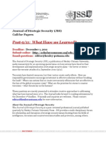 Call for Papers_Journal of Strategic Security_Spring 2012