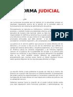 Plan de reforma judicial - Ricardo Alfonsin 2011