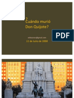 Fecha de Muerte de Don Quijote