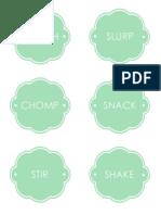 Mason Jar Lunch Printable
