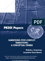 "Harnessing Post-Conflict ""Transitions"""