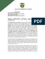 INTERVENCIÓN CIUDADANA DE LOS CONGRESISTAS