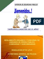 REGLAMENTO DE COMISARIAS - CADETES II AÑO