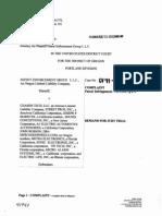 Patent Enforcement Group v. Chassis Tech et. al.