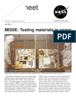 MISSE Testing Materials in Space