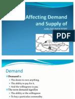 Economics Factors Affecting Demand and Supply