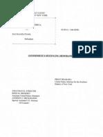 Prosecution's Sentencing Memorandum