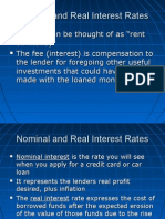 Nominal Real Interest Rates and Phillips Curve