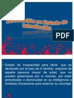 Declaración en Estado de Interdicción