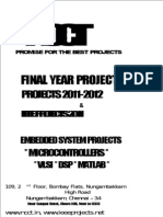 Embedded - Electronics - Electrical - Power Electronics - Power Systems - Project List, Project Titles, IEEE 2011 Project Titles, NCCT Chennai