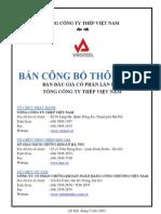 Ban Cong Bo Thong Tin Tong Cong Ty Thep Viet Nam