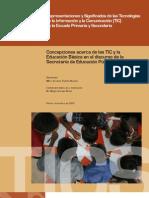 Concepciones acerca de las TIC en la Educación Básica de México