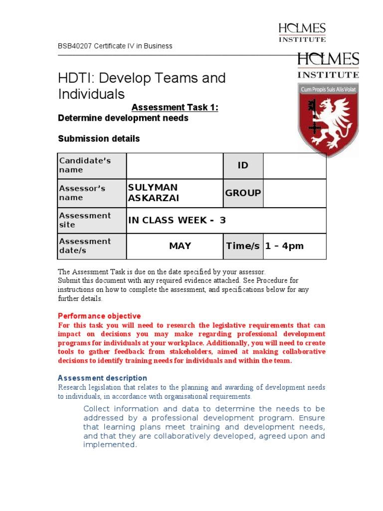 hdti assessment 1 educational assessment competence human