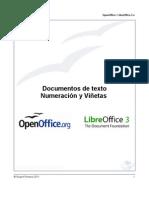 OpenOffice / LibreOffice - Numeración y Viñetas