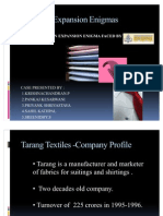 Tarang Textiles-company Profile