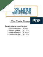 CDM Sample Constitutions