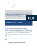 Best Practice News Alert No 129 - The NEW Employment Laws! Part I
