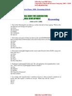 Nabard Bank Officers Exam 2008(Reasoning Solved)