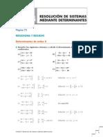 u3 Resolución de sistemas mediante determinantes