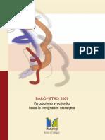 Percepciones y actitudes hacia la inmigración extranjera_Barómetro 2009