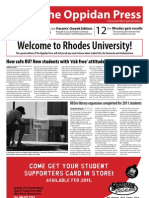 The Oppidan Press Oweek Edition 2011
