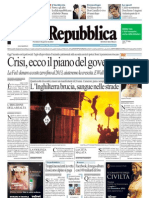 La Repubblica 10.08.11