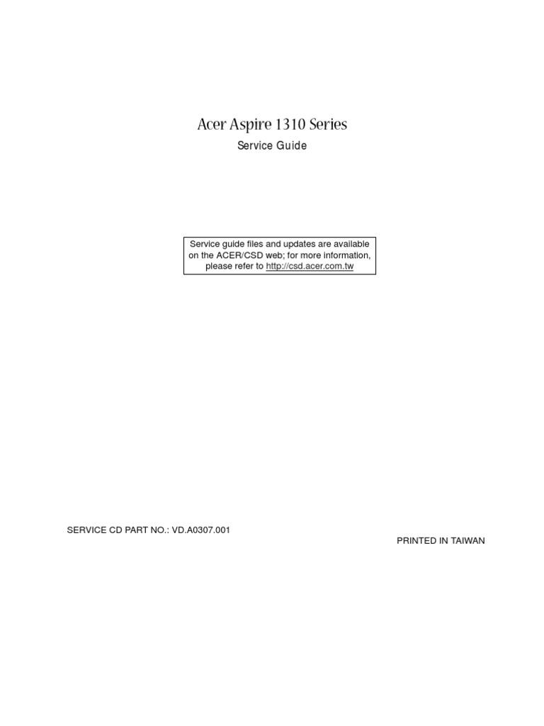 Aspire 1310 Service Manual Cd Rom Bios Sony Ps2 Scph 30000