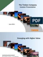 Timken 2011 Investor Presentation_June
