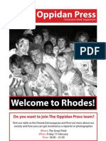 The Oppidan Press Oweek Supplement 2011