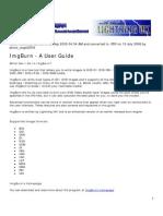 IMGburn User Guide PDF