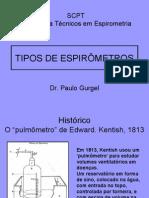CURSO - TIPOS DE ESPIRÔMETROS