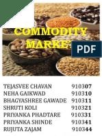 Commodity Market Ppt