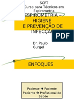 CURSO - HIGIENE E PREVENÇÃO DE INFECÇÃO EM ESPIROMETRIA