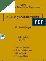 CURSO - AVALIAÇÃO PRÉ-TESTE EM ESPIROMETRIA