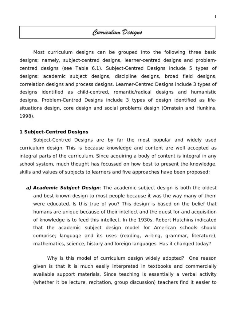 subject centred design