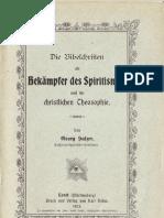 Georg Sulzer - Die Bibelchristen als Bekämpfer des Spiritismus und der christlichen Theosophie