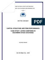 Huynh Anh Kiet - Capital Structure and Firm Performance