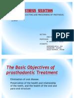 Prosthesis Selection