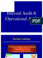 Internal Audit and Operational Audit