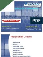 Parle Company Presentation- By Raj