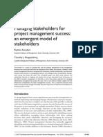 Managing Stakeholders Assundani