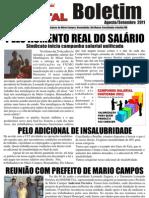 Panfleto Sindmetal - Agosto e Setembro de 2011